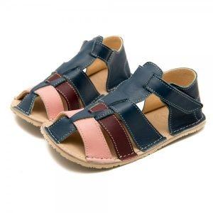 Kids Minimalist Sandals Marlin Blue and Pink