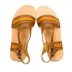 Ladies Leather Sandals Anemone Brown