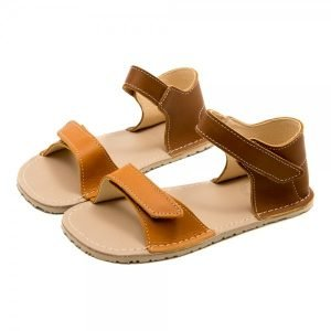 Minimalist Sandals for Girls Ariel Camel and Brown