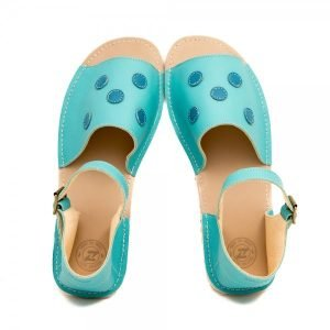 Women's Barefoot Sandals Coral in Sea Blue