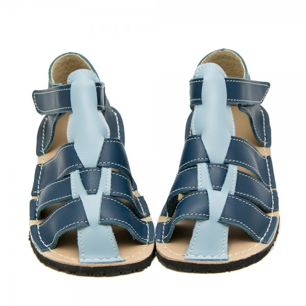 Kids Minimalist Sandals Marlin Blue and Light Blue