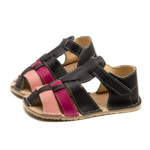 Kids Minimalist Sandals Marlin Grey and Pink