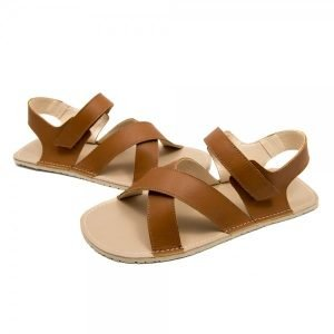 Men's Minimalist Leather Sandals - Neptune Brown