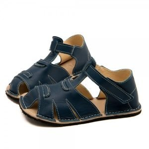 Kids Minimalist Sandals Shell Blue