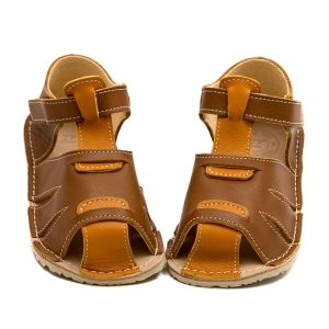 Kids Minimalist Sandals Shell Brown