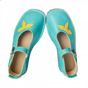 Mary Jane barefoot shoes sea blue 207