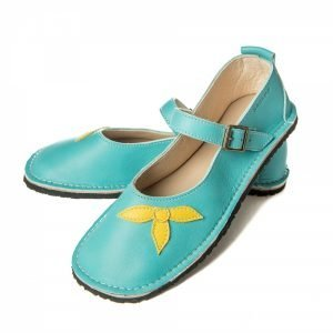 Mary Jane barefoot shoes sea blue