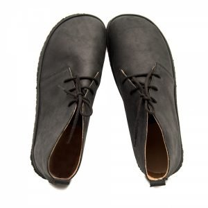 Waterproof Black Leather Barefoot Shoes for Men Pelican
