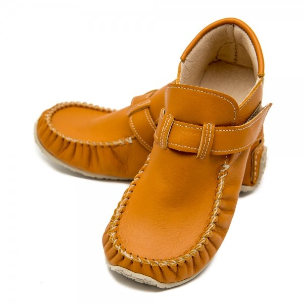 Leo Camel barefoot moccasins for kids