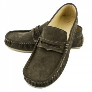 Women's Soft Moccasins Cheetah in Grey