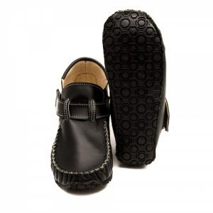 Leo Black Minimalist School Shoes