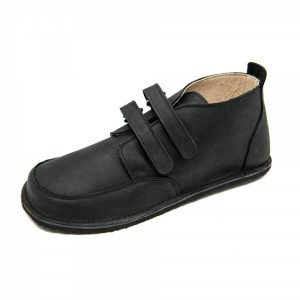 Waterproof Barefoot Boots Fox in Black with velcro