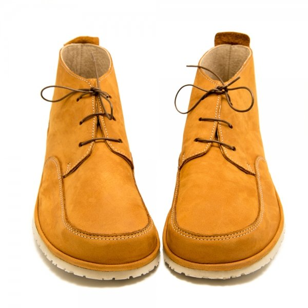 Waterproof Barefoot Boots for Women Fox in Camel Leather