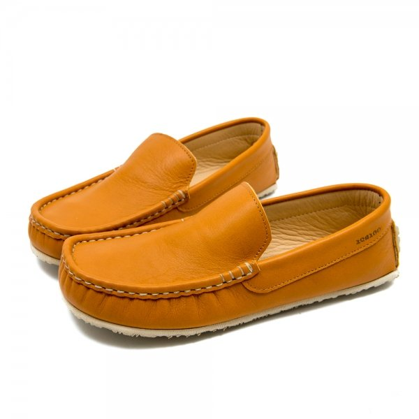 Camel leather loafer Cheetah