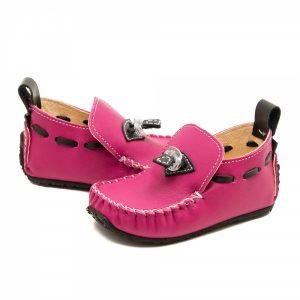 Toddler pink moccasins Tiger