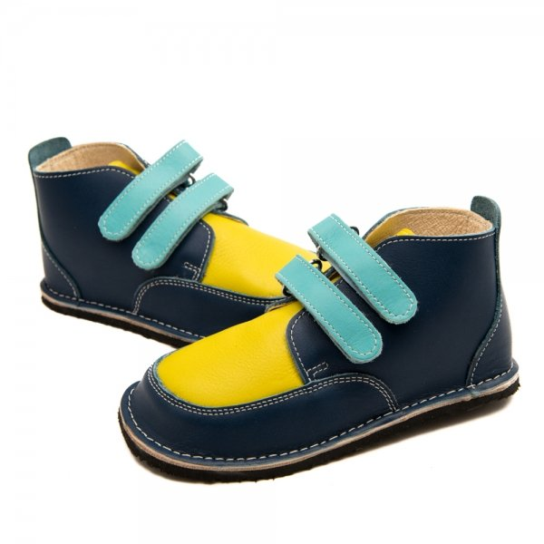 Fox Navy and Blue Barefoot Shoes
