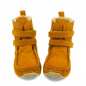 Barefoot boots Yeti in camel with sheepskin