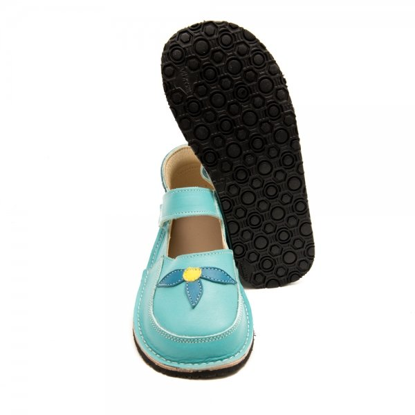 Barefoot shoes in blue Ibis with Vibram sole