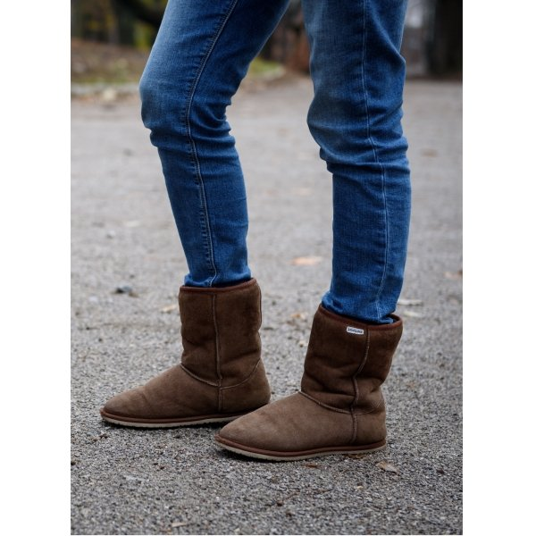 Zeazoo Dingo Ladies Brown Mid-calf Sheepskin Boots
