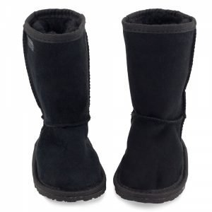 Zeazoo Dingo Black Mid-calf Sheepskin Boots