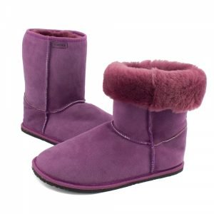 Zeazoo Dingo Ladies Purple Mid-calf Sheepskin Boots