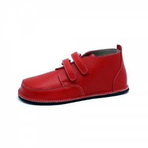 Red barefoot boots Fox with velcro strap