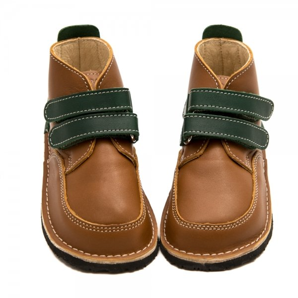 Barefoot boots Fox in brown with velcro straps