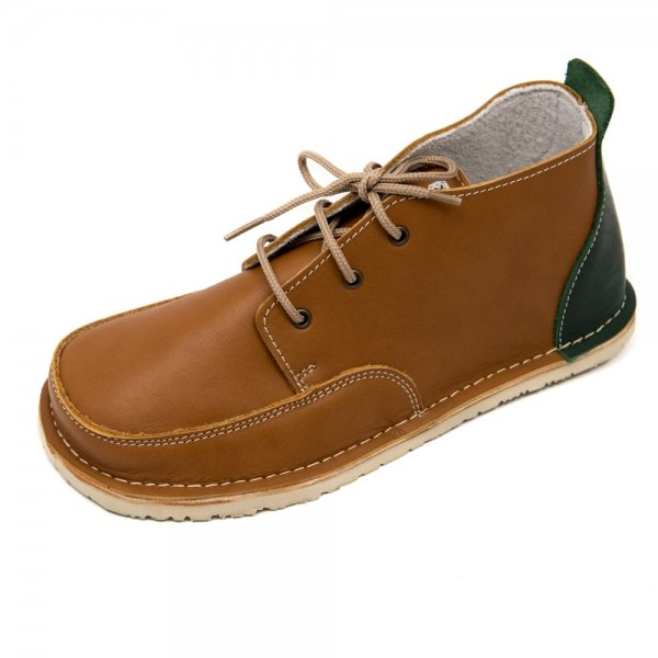 Barefoot boots Fox in brown with laces
