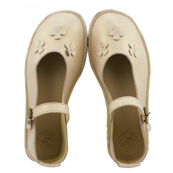Barefoot Mary Jane Flats in Pearl