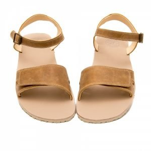 Zeazoo Sahara Tan Leather Flat Sandals